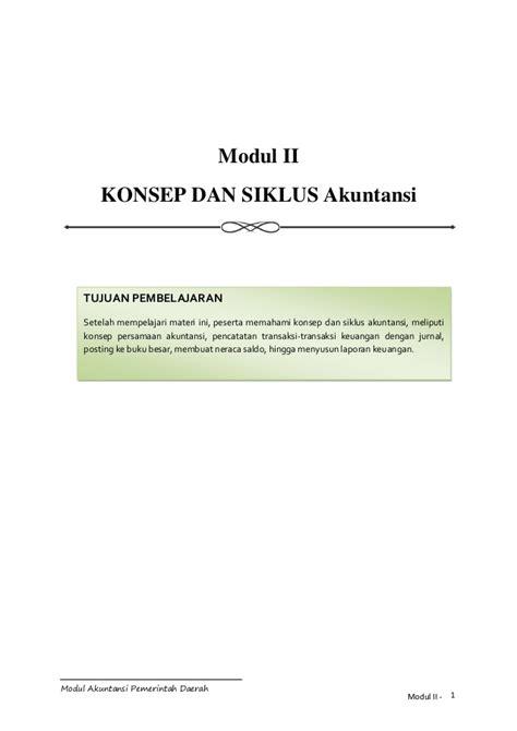 modul menyusun laporan keuangan untuk smk modul akuntansi akrual untuk pemerintah daerah
