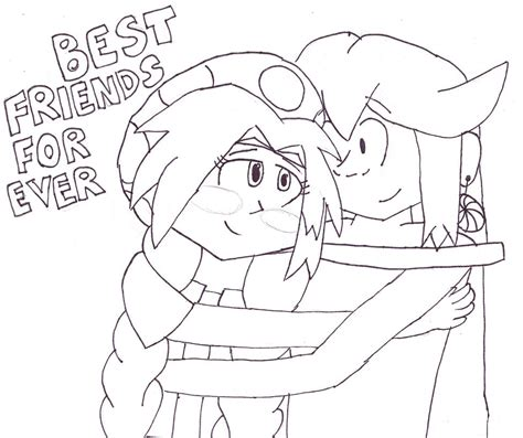 anime friends coloring pages coloring pages