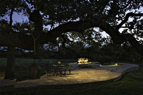 Nighttime Backyard Outdoor Lighting Designs For Your Pit Area Outdoor