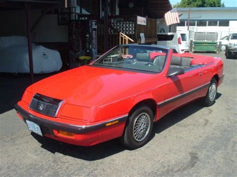 active cabin noise suppression 1992 chrysler lebaron auto manual purchase used 1989 chrysler lebaron convertible one of a kind all original car with 36 674 in