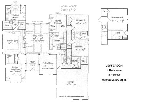 4 bedroom ranch floor plans ranch house plans pleasanton 30 545 associated designs 17