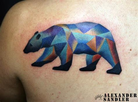 tatouage retour ours g 233 om 233 trique par kipod studio