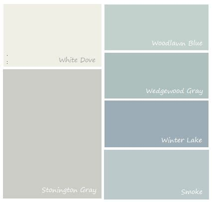 complimentary colors to stonington gray kitchen and dining room with pantry door in one of the