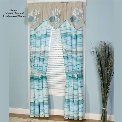 Coastal Window Curtains Seaview Coastal Window Treatment