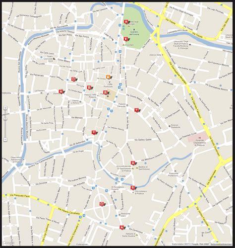 padua map city map padua map of padua for