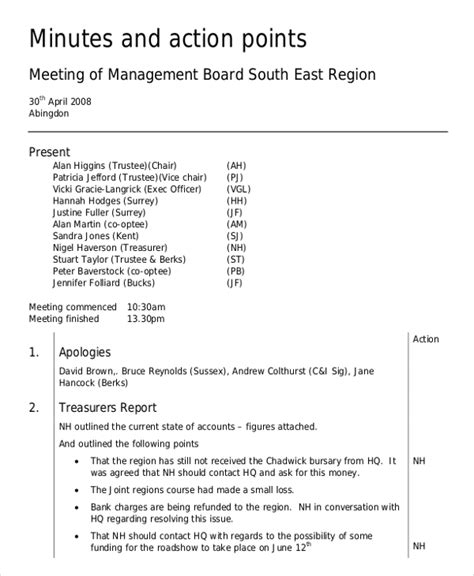 how to take meeting minutes template board minutes template 10 free word pdf documents
