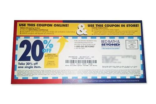 use coupon online bed bath and beyond