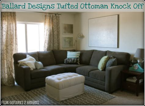 Ottoman Title From Gardners 2 Bergers Ballard Designs Tufted Ottoman Hack