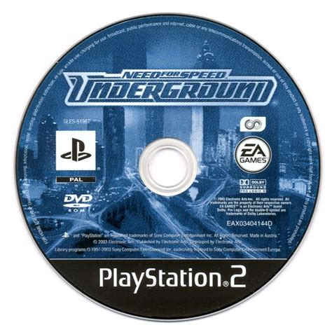 Dvd Original Playstation 3 Bluray Need For Speed need for speed underground 2003 playstation 2 box cover mobygames
