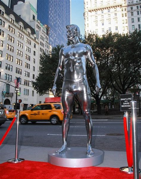 Beckham Immortalized by David Beckham Gets Immortalized In A Silver Statue For H M