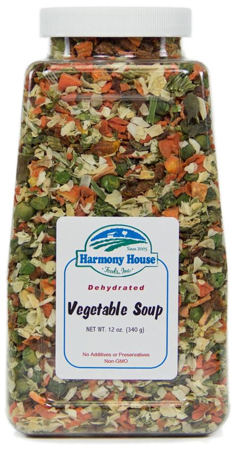 Harmony House Foods by Harmony House 12 Oz Jar Of Dehydrated Vegetable Soup Mix