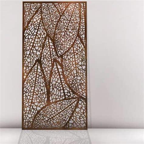 leaf pattern metal screen vuelta metal laser cut screens outdoor screens wall