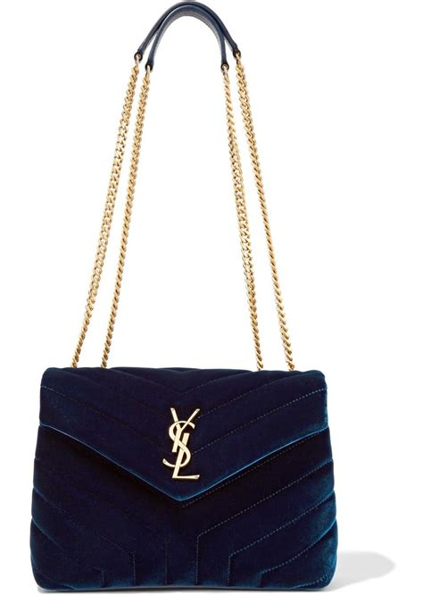 Yves Laurent Velvet Bag by Yves Laurent Laurent Loulou Small Quilted