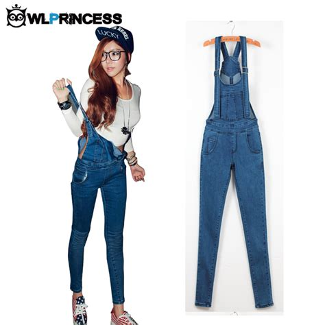 Overall Jumpsuit New 102 Werpak With Inner Playsuit Kancing Zipp owlprincess 2016 new denim jumpsuits vaqueros romper
