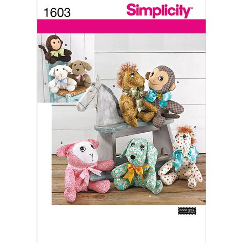 amazon com simplicity 9207 pattern stuffed christmas simplicity one size crafts crafts jo ann