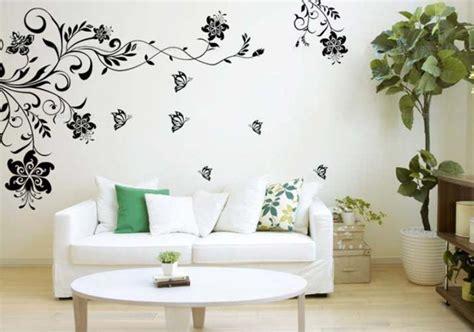 Hiasan Dindin Bunga Abstrak Kuning lukisan dinding ruang tamu desainrumahid