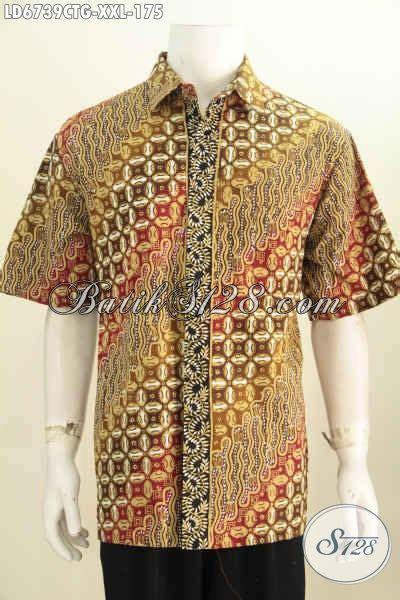 Kemeja Cowok Lengan Pendek Motif jual kemeja batik jumbo pakaian batik cowok gemuk model