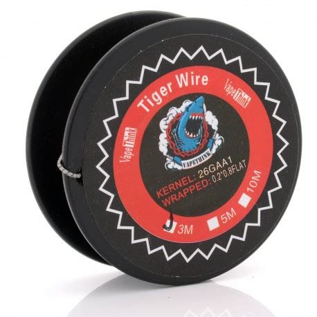 Authentic Wire By Rofvape Tiger 26 Ga A1 0 2 0 8 Flat 118mm authentic vapethink kanthal a1 tiger 3m 26ga 0 2 x 0 8 wire