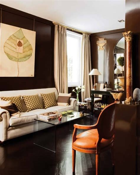 dark brown living room walls dark brown room designs color brown rooms i love
