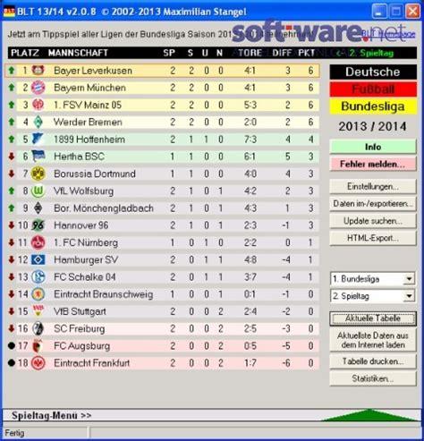 fussball bundesliga tabelle blt die bundesliga tabelle 2013 2014 2 08