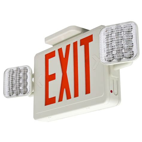 Lu Emergency Combo Bulb galleon lfi lights hardwired led combo exit sign emergency light combor2