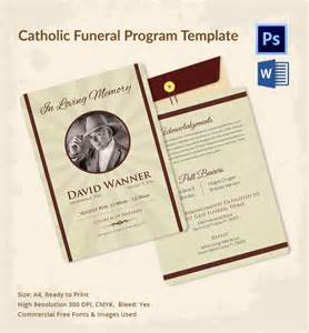 funeral programs printing sle catholic funeral program 12 documents in pdf psd word