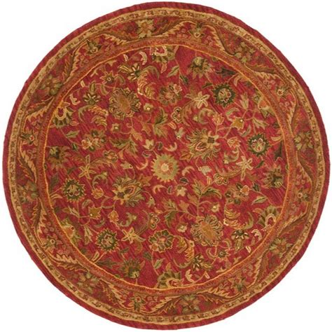 Safavieh Antiquity Red 6 Ft X 6 Ft Round Area Rug At52e 6 Foot Area Rugs