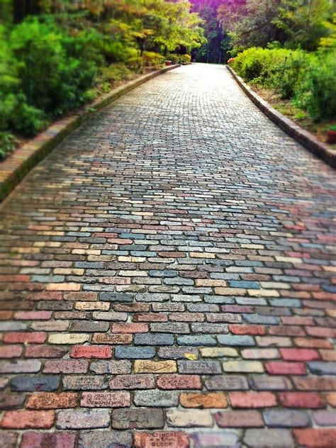 brick path gardening pinterest