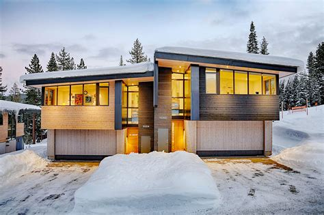 modern mountain house designs build with natural material stellar townhomes are lake tahoe s answer to the energy