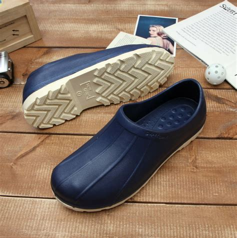kitchen shoes non slip non slip shoes comfort clogs water safety chef kitchen cooking fishing navy ebay