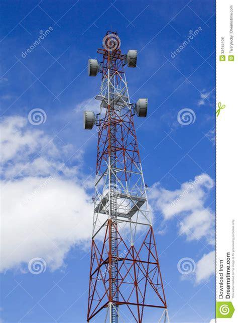 antenna  blue sky royalty  stock  image