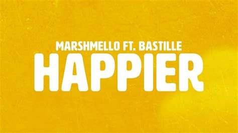 marshmello ukulele chords marshmello ft bastille happier official lyric video
