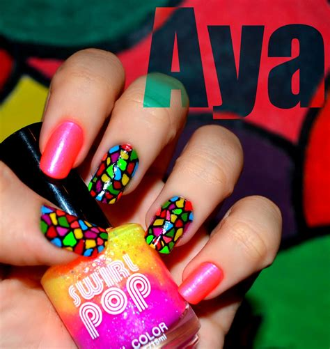easy nail art neon cool trendy neon nail art designs 2014 beststylo com