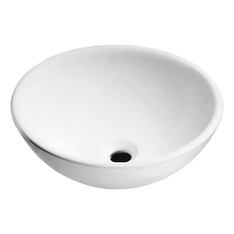 Ceramic Ls Anzzi Deux Series Ceramic Vessel Sink In White Ls Az118