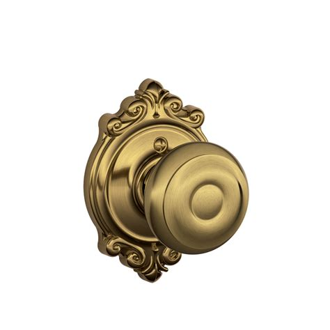 Decorative Door Knobs by Shop Schlage F Decorative Brookshire Collections Georgian