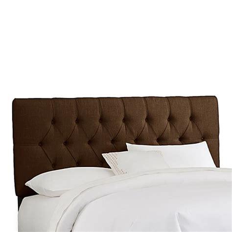 chocolate headboard buy skyline furniture full tufted headboard in linen