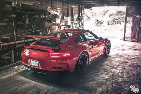 awesome red porsche 911 gt3 rs rear three quarters