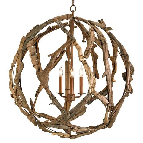 Driftwood Light Fixtures Driftwood Iron Modern Rustic 3 Light Orb Pendant Kathy