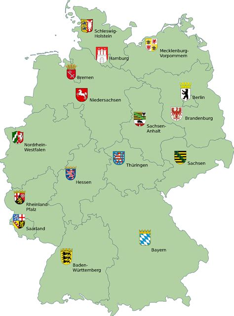 map deutschland germany file map germany with coats of arms png wikimedia commons