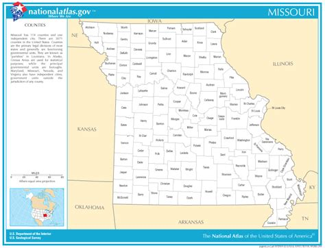 county map of missouri missouri county map images