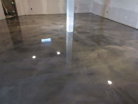 Epoxy Floor Basement Remodel   Metallic Marble