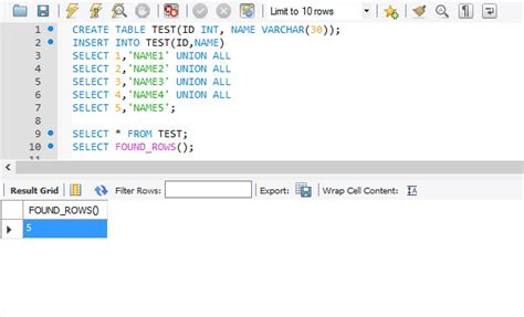 mysql row date format mysql found rows function for total number of rows