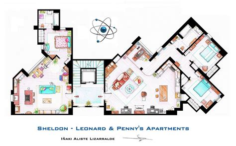 layout charlie harper s house artist sketches the floor plans of popular tv homes