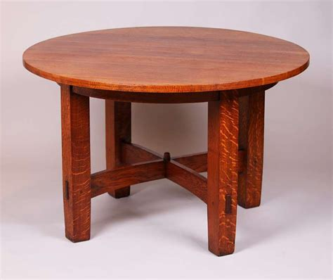 Stickley Table by Gustav Stickley 48 Quot D Fixed Top Dining Table California Historical Design