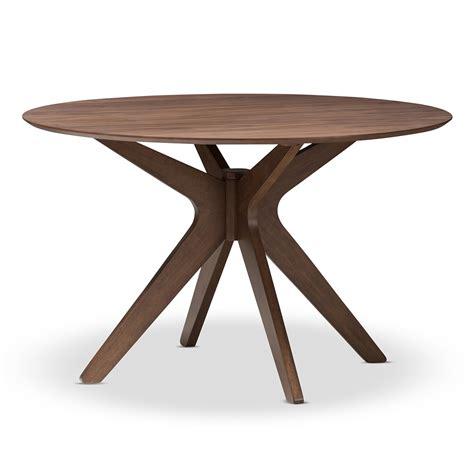 mid century modern table ls baxton studio monte mid century modern walnut wood 47 inch