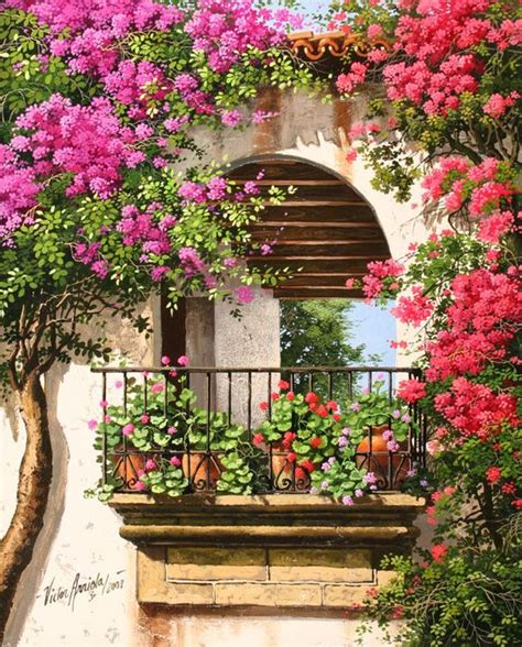 balcony flowers beautiful balcony of flowers paintings and draws 2