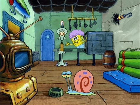 image spongebob squidward gary spongebob s living