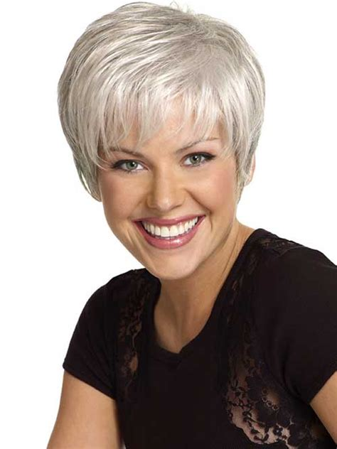short haircuts for fine grey hair short gray hair short hairstyle 2013