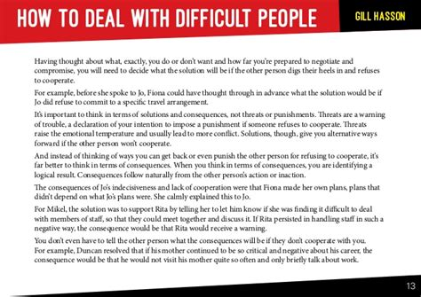 How To Deal With Difficult how to deal with difficult people sle chapter