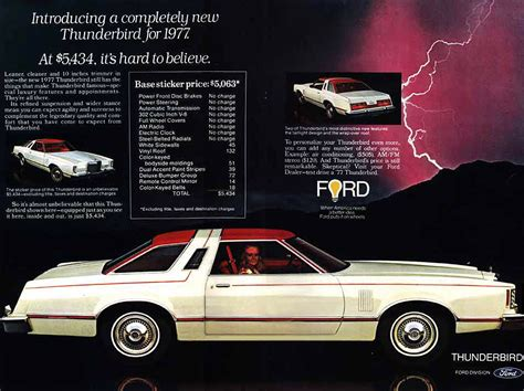 old car manuals online 2003 ford thunderbird head up display 1977 ford thunderbird ad 01